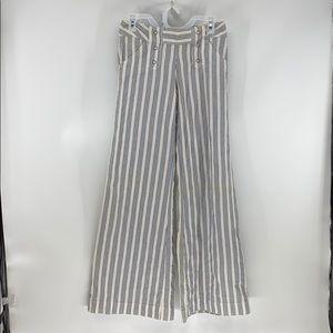 London Jean victoria secret naval striped wide leg